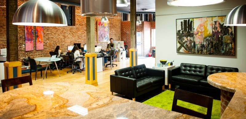 Private downtown office available for month to month lease for Beautiful office space design