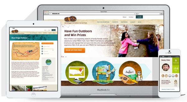 Kids In Parks website design and development