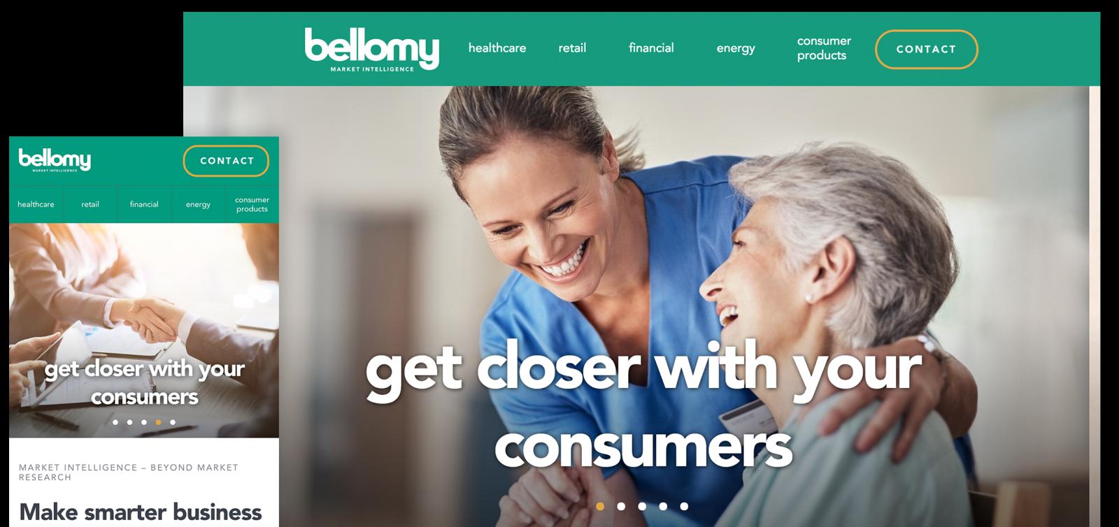 Bellomy website screenshots