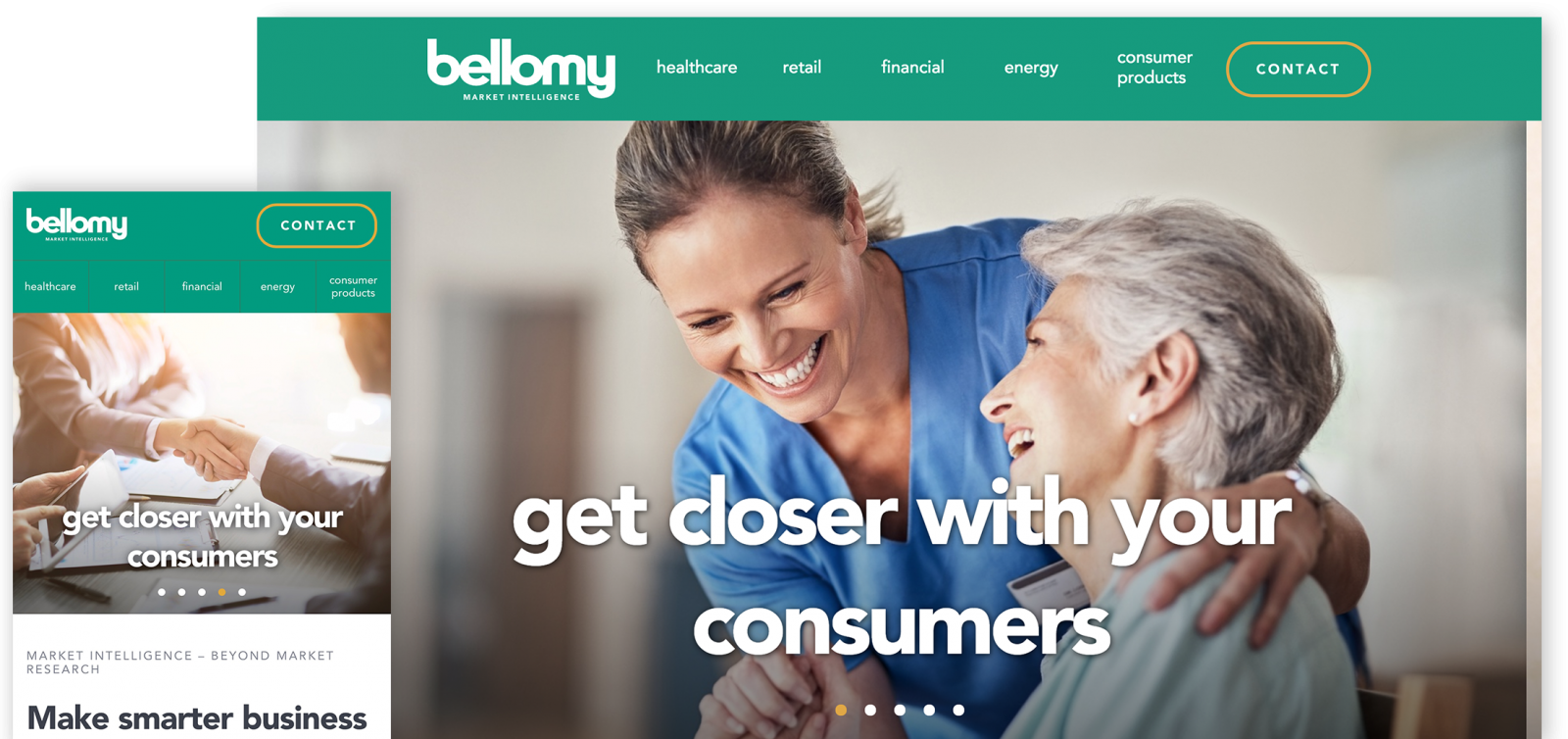 Bellomy website screenshots