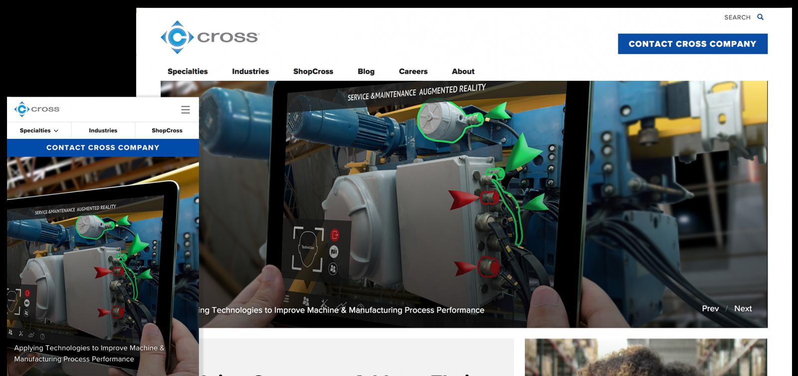 Cross website screenshots