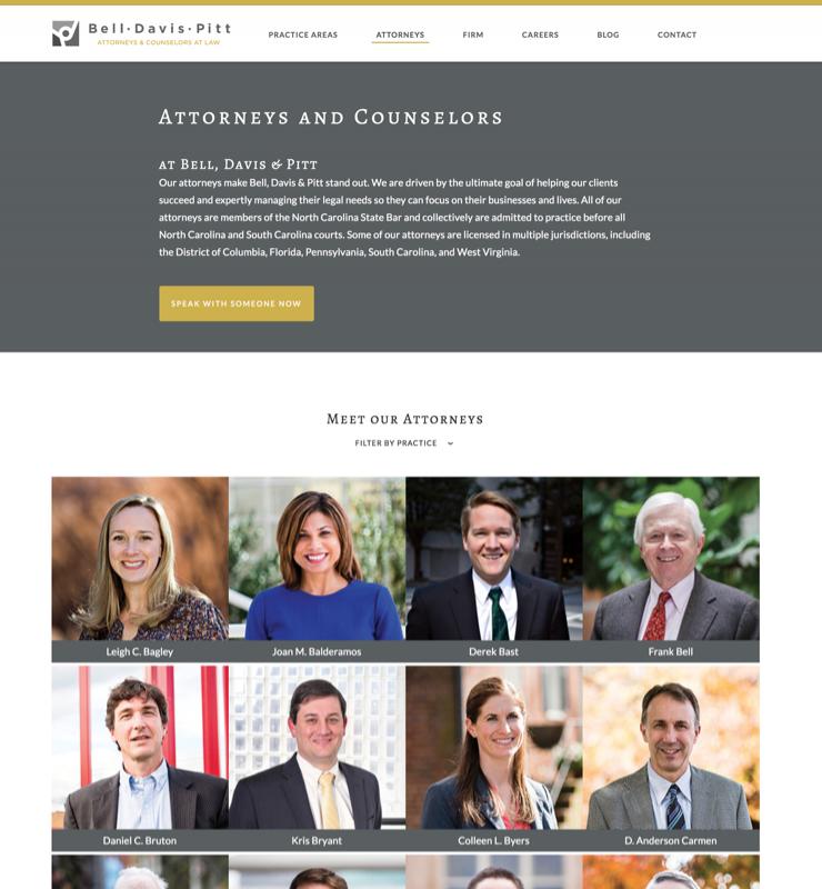Bell, Davis & Pitt Attorneys Listing