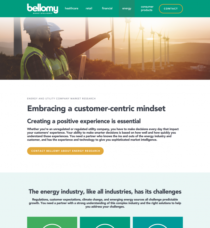Bellomy Energy website page