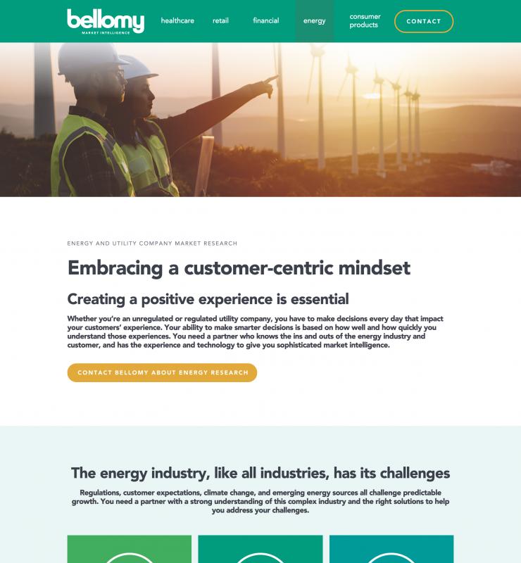 Bellomy Energy website page
