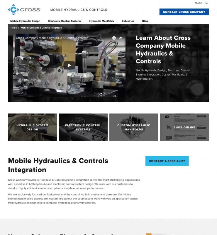 Cross website screenshot