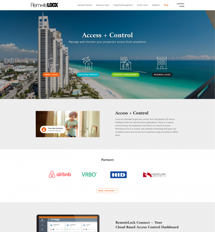RemoteLock website homepage