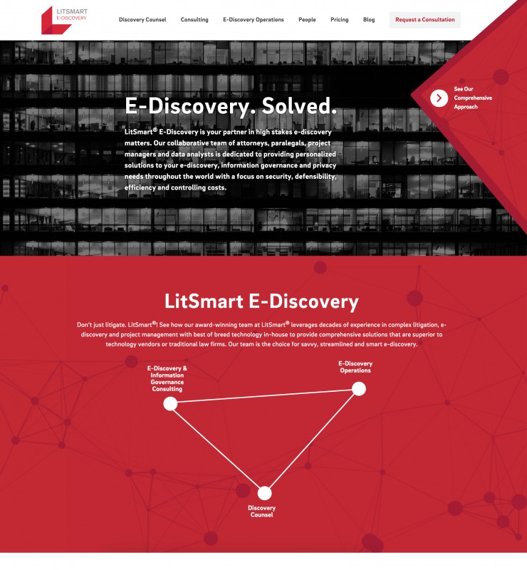 Kilpatrick Townsend LitSmart E-Discovery Homepage