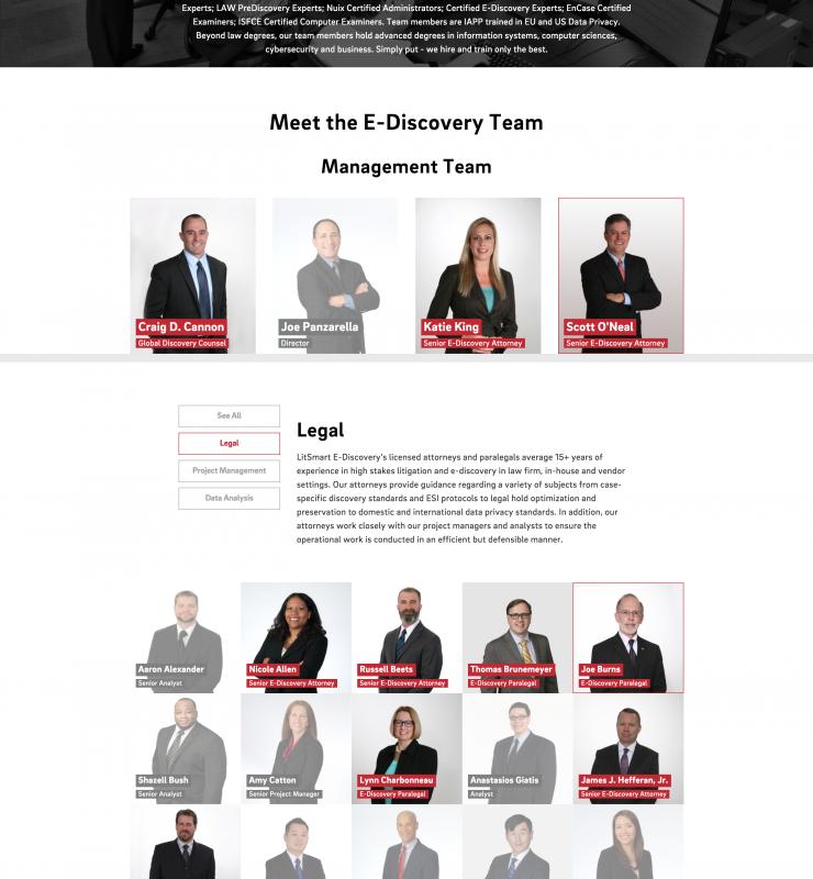 Kilpatrick Townsend LitSmart E-Discovery Meet the Team