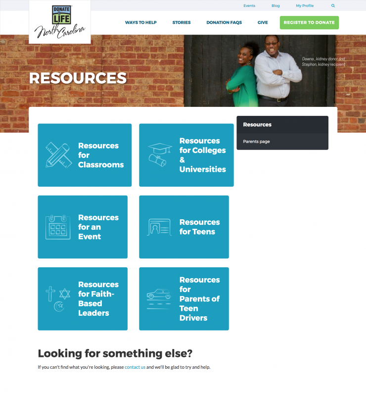 Resources Donate Life NC